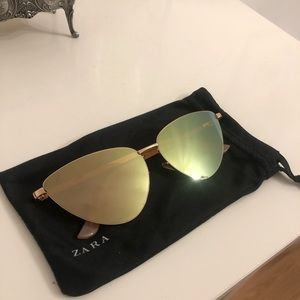 Zara Rose Gold Cat Eye Sunglasses